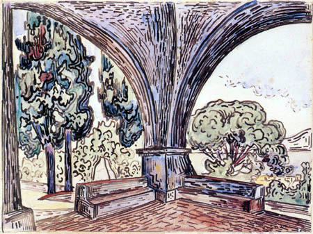 Paul Signac - The Chapel of Sainte-Anne at Saint-Tropez