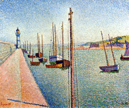 Paul Signac - The Masts, Portrieux