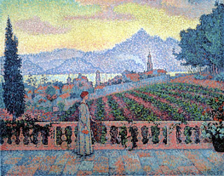 Paul Signac - The Terrace, Saint Tropez