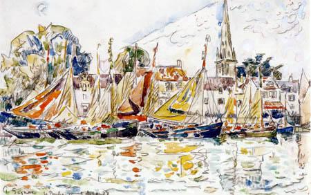 Paul Signac - Bateaux de pêche, Le Pouliguen