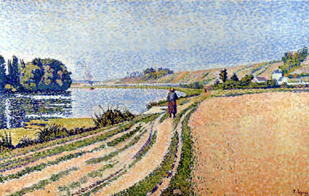 Paul Signac - The Riverbank, Herblay