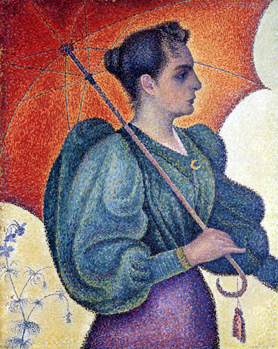 Paul Signac - Portrait of Berthe Signac with a parasol