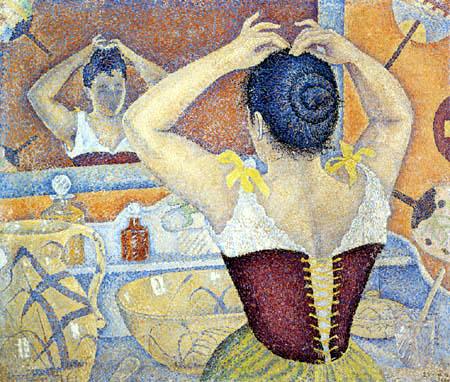 Paul Signac - Femme s'chargeant des ses cheveux