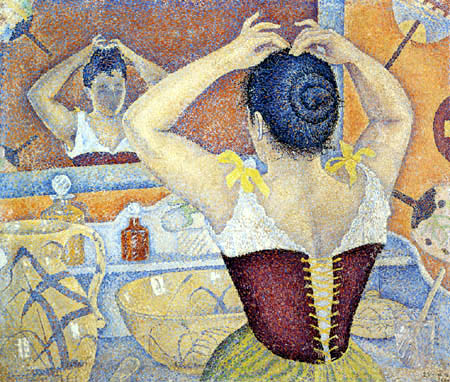 Paul Signac - Frau beim Friesieren