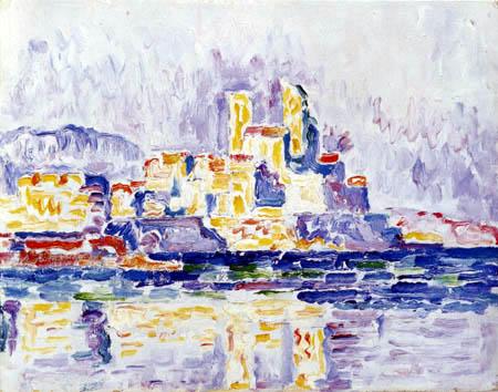 Paul Signac - Coucher du soleil jaune, Antibes
