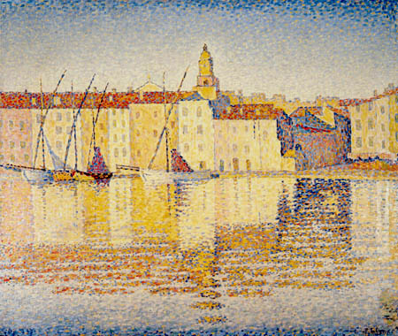 Paul Signac - Houses in the Port, Saint-Tropez