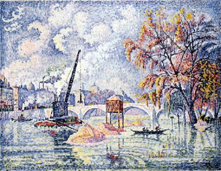 Paul Signac - Inondation chez le Pont royal, Paris