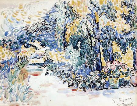 Paul Signac - The Garden of the Artist, Saint-Tropez