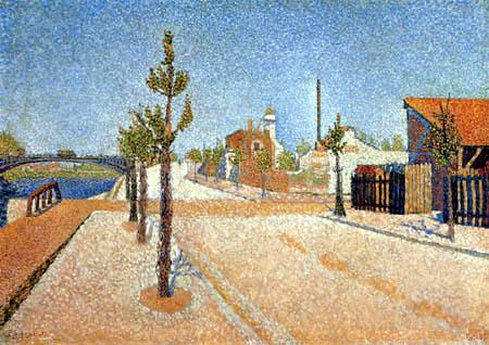 Paul Signac - Lumière du soleil, Quai de Clichy