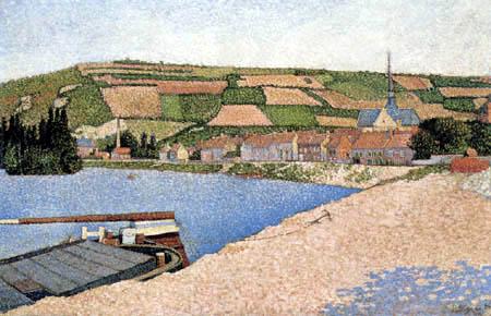 Paul Signac - Hillside from Downstream, Les Andelys