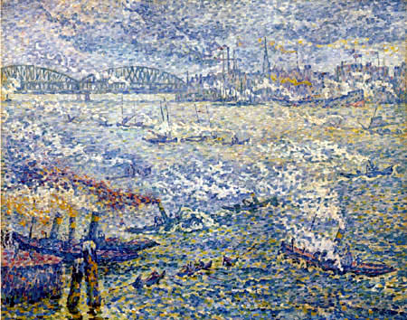 Paul Signac - Steamboats, Rotterdam