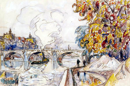 Paul Signac - Pont Royal et Gare d´orsay, Paris