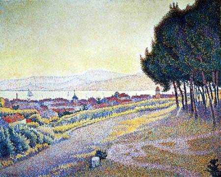 Paul Signac - The Town at Sunset, Saint-Tropez