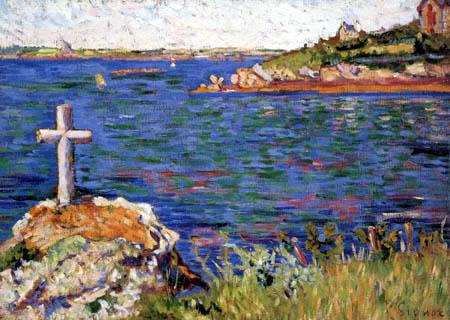 Paul Signac - The mariner´s cross at high tide, Saint-Briac
