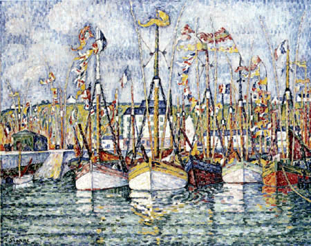 Paul Signac - Blessing of the Tuna Boats, Groix