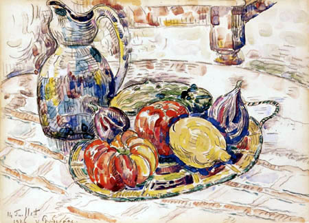 Paul Signac - Still life with fruit and vegetables