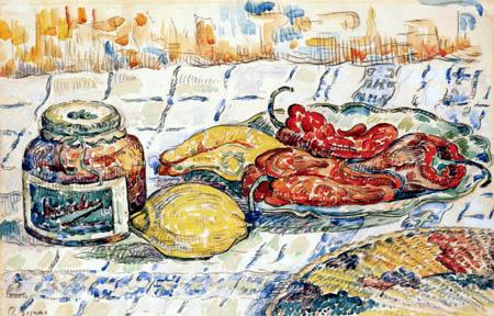 Paul Signac - Nature morte avec poivres