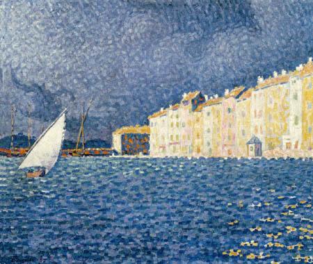 Paul Signac - Le donner l'assaut à Saint Tropez