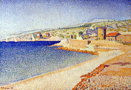 Paul Signac - The Jetty, Cassis