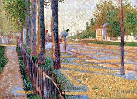 Paul Signac - La parada en Bois-Colombes