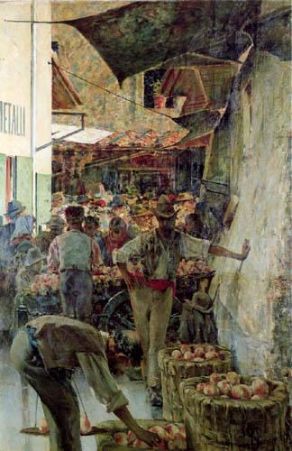 Telemaco Signorini - Auf dem Markt in Florenz