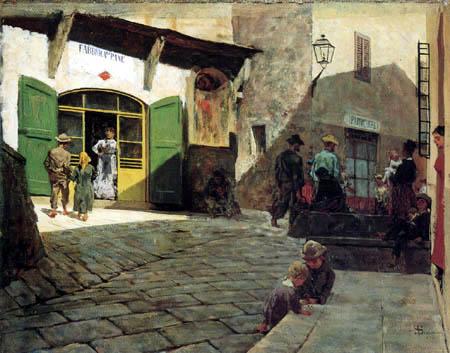 Telemaco Signorini - Bäckerei in Settignano