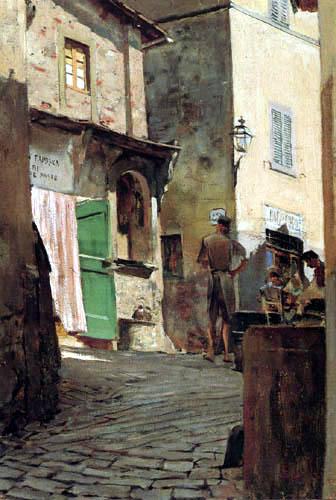 Telemaco Signorini - Im Zentrum von Settignano