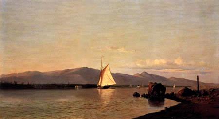 Francis Augustus Silva - Kingston Point, Hudson River