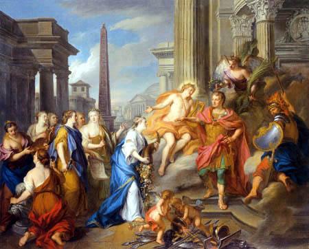 Louis de Silvestre - Augustus schließt den Tempel des Janus