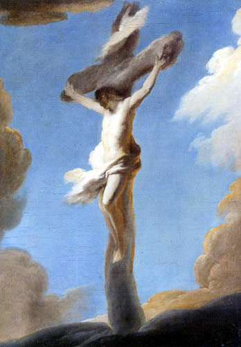 Louis de Silvestre - Christ at the cross from clouds