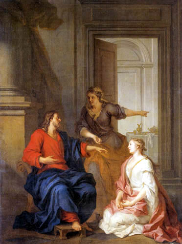 Louis de Silvestre - Christ with Mary and Martha