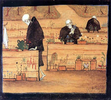 El jardín de la muerte - Hugo Simberg - como impresión artística ...