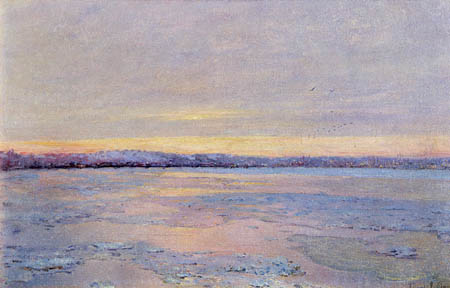 Edward Emerson Simmons - A River in Winter