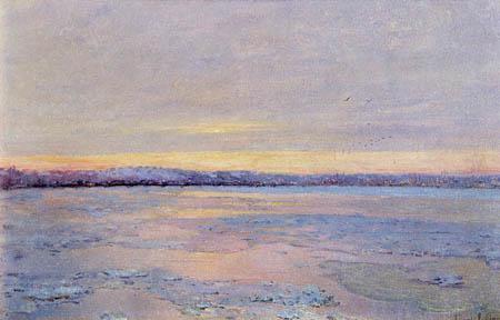 Edward Emerson Simmons - Un río en invierno
