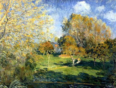 Alfred Sisley - Une Jardin en Montgeron