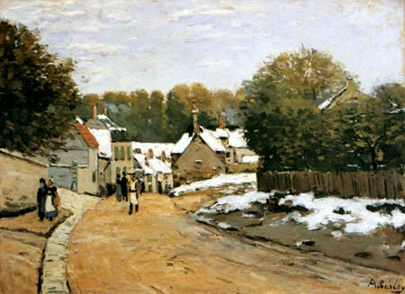 Alfred Sisley - El ultimo nieve, Louveciennes