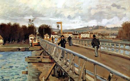 Alfred Sisley - Fußgängerbrücke in Argenteuil