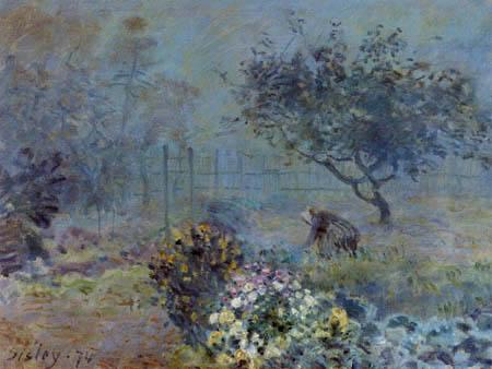 Alfred Sisley - Ein nebliger Morgen, Voisins