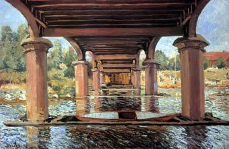 Alfred Sisley - Unter der Brücke, Hampton Court