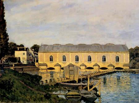 Alfred Sisley - Waterworks à Marly