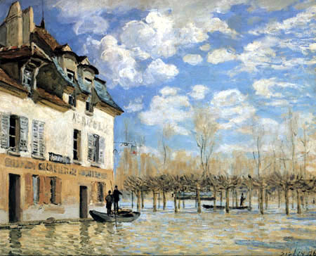 Alfred Sisley - Flood Water in Port-Marly