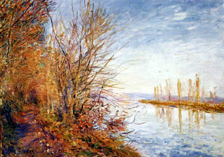 Alfred Sisley - The Seine in the morning sun