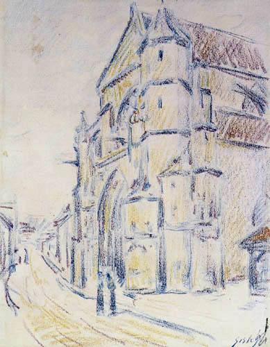 Alfred Sisley - Die Kirche von Moret