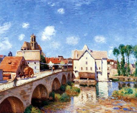 Alfred Sisley - The bridge of Moret