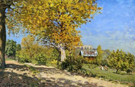 Alfred Sisley - Landschaft bei Louveciennes