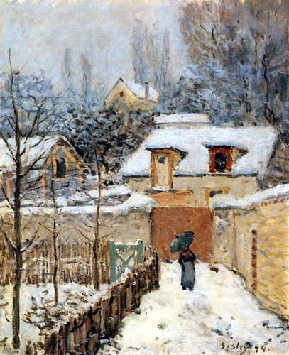 Alfred Sisley - Nieve en Louveciennes