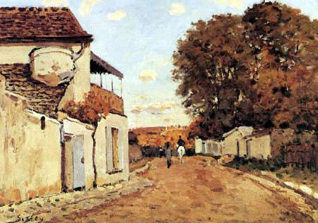 Alfred Sisley - Rue de la Princesse, Louveciennes