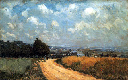Alfred Sisley - A bend of the way. Vista of the Seine