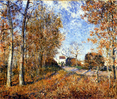 Alfred Sisley - A corner of the forest in Sablons