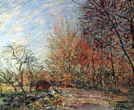 Alfred Sisley - Waldweg bei Fontainebleau